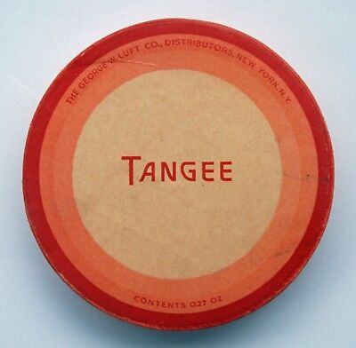VINTAGE 1940's TANGEE FACE POWDER IN ORIGINAL BOX .27 oz RACHEL MAKEUP NOS