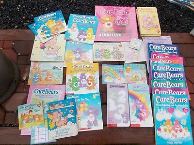 Lot Of Assorted CARE BEARS Books & Activity Books Book Lot Vintage