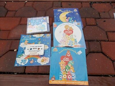 Lot Of Assorted CARE BEARS Bear Vintage Records Cassette CD Lot