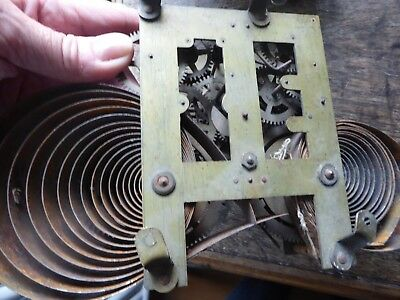 Vintage old clock parts mechanism? B with Crescent Badische Uhrenfabrik German