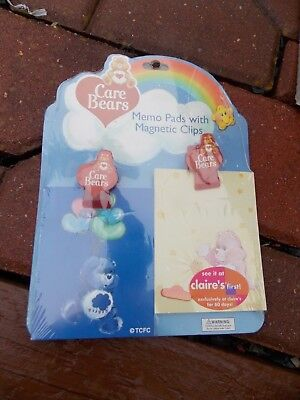 Care Bears Bear MEMO Pads w/Magnetic Clips NEW SEALED 2003