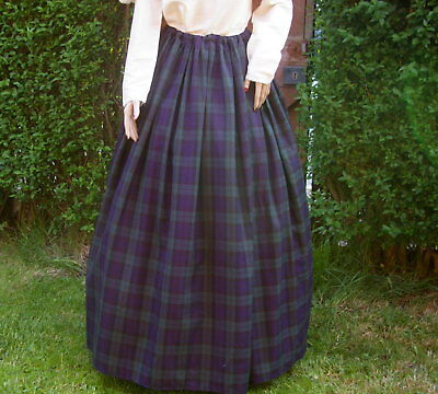 Ladies Victorian skirt  Black Watch tartan costume fancy dress Hogmanay