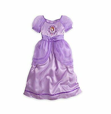 Disney Sofia Girls' Fancy Deluxe Purple Satin Tulle Nightgown, Gown, Size 7/8