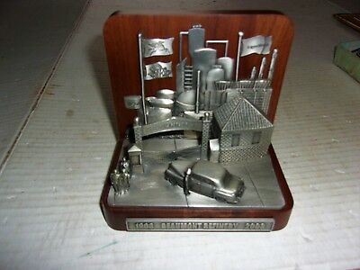 Very Nice Vintage Mobil Commemorative Desk Plaque - 100 Years Beaumont Refinery