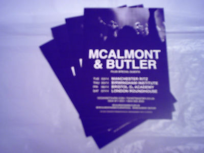 McALMONT & BUTLER (SUEDE) - UK TOUR 2015 (4 x PROMO CARDS)