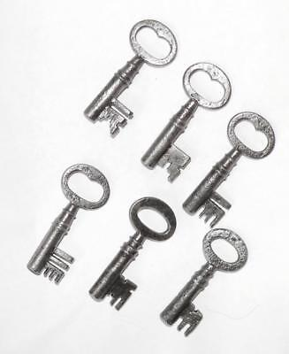 6 antique 2 inch long keys