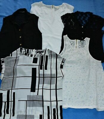 Next H&m New Look Womens 6 X Summer Blouse Top Uk-8-10 - Small Bundle