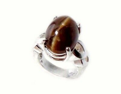 Apatite Cats Eye Ring 20ct Dark Cognac Antique 19thC Siberia Greek Goddess Apate