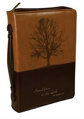 Stand Firm Luxleather Large Brown/Dark Brown Bible Cover