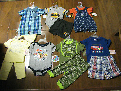14 Piece Lot Baby Boys Spring Summer Clothes Size 3/6 6/9 Months 3/6M 6/9M New