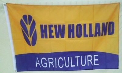 New Holland Tractor Flag 3' X 5' Polyester USA Flag Banner Man Cave NEW # 225