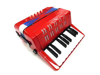 JUNIOR BUTTON/PIANO ACCORDION 7 Treble & 2 Bass Buttons Red Finish