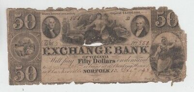 Obsolete Currency  Norfolk Virginia  lower grade