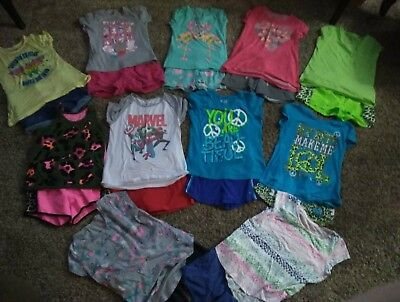 Large lot of Girl's summer outfits size 10/12 & 14