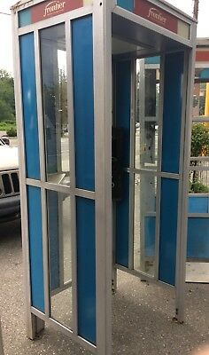 Vintage Phone Booth Fullsize Coin Payphone BLUE GTE Metal SHIPIT Telephone