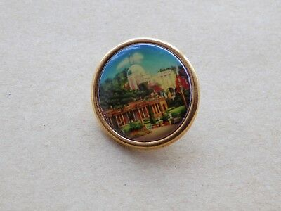 Old Costume Jewellery Jewelry Brooch Historical Buildings Made in New Zealand