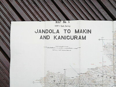 1920 MAP - WAZIRISTAN, JANDOLA to MAKIN & KANIGURAM. (Pakistan).