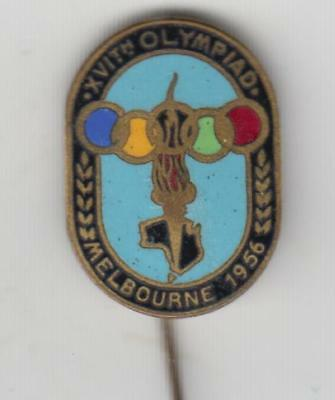 Melbourne , Olympic Pin , 1956, Swann & Hudson