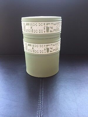 Wedgwood Green jasperware Candy jar in excellent condition..