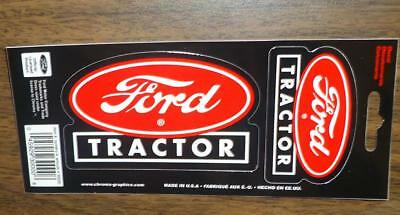 """CHROMA 2  New FORD Oval TRACTORS DECALS STICKERS 3-7/8"""" X 2-1/4"""" & 2-5/8"""" X 1"""