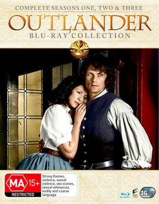 OUTLANDER the complete Season Series 1, 2 & 3 Blu ray Box Set RB New Sealed