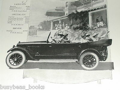 1920 Studebaker advertisement, STUDEBAKER Series 20 Big-Six auto