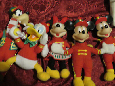Vintage Mickey Mouse and Band x5 Minnie, Mickey, Donald and Goofy Pre Loved