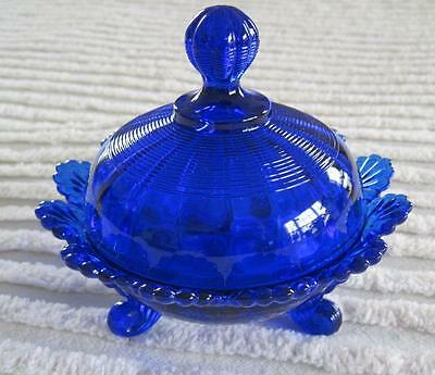 """Mosser Cobalt Glass Footed 4.5"""" Candy Dish"""