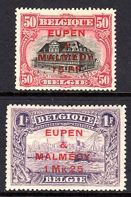 (137)    Germany (Occupation, Belgium) 1920  Surch (Top 2 values) SG23-24 M/Mint