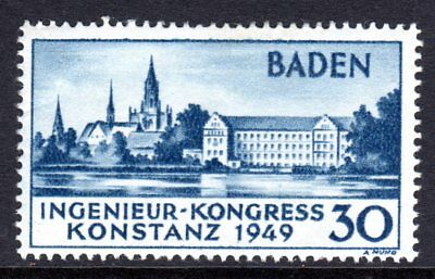 (162)     Germany (Allied Occ, Baden) 1949 Seehof Hotel, Constance SGFB46 MNH