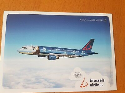 Brussels Airlines A320 Airline Issue Postcard