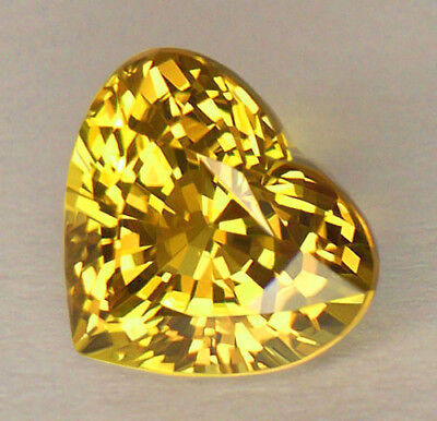 3.20Ct *certified* Aaa Vivid Golden Yellow Heart Shape Sri Lankan Chrysoberyl