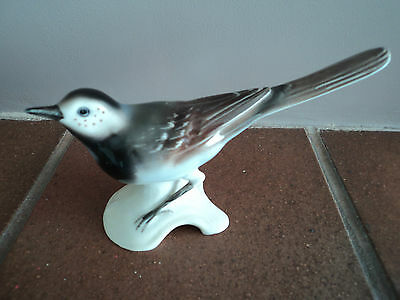 Vintage (Goebel-West Germany) Pied Wagtail Bird (Mint Condition) Super Figure.