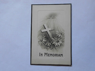 In Memoriam Card For Albert Harry Gamble 1914 Aged 29 Years Ww1 ?