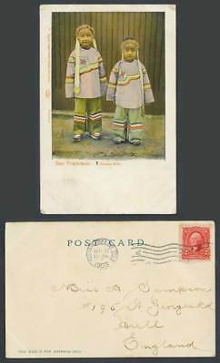 Chinese Girls Chinatown China Town San Francisco Cal USA 2c 1903 Old UB Postcard