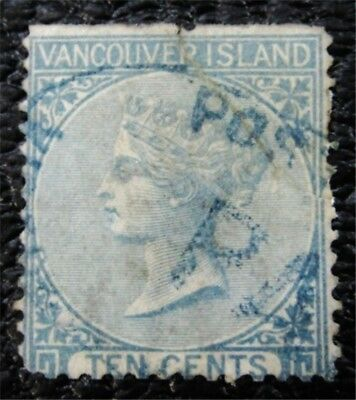 nystamps Canada British Columbia & Vancouver Island Stamp # 6 Used $225