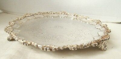 Sterling Silver Salver Tray English London 1876 Stephen Smith