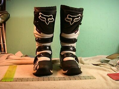 Fox Comp 5 Skull design MX BMX motorcycle racing boots off-road size M9 42.5