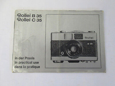 Rollei B35 C36 Vintage Camera Instruction User Manual Booklet