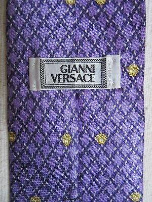 GIANNI VERSACE Medusa Heads silk tie good condition  Made in Italy