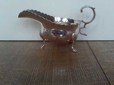Antique small Solid Silver sauceboat Edinburgh 1905 by Hamilton & Inches