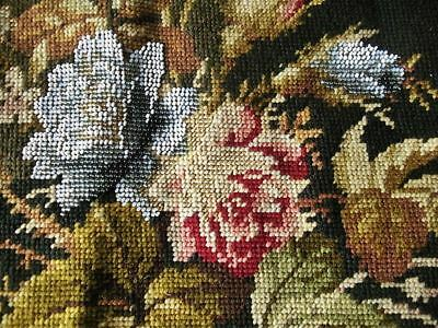 Lovely Antique Victorian Beadwork and Needlepoint Embroidery
