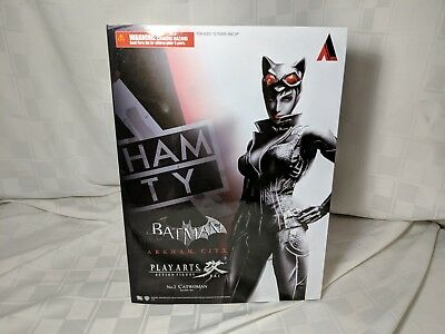 Catwoman Play Arts Kai Batman Arkham City Action Figure NIB Never Opened
