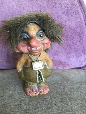 VINTAGE NYFORM TROLL Doll  Made in Norway Toy Collectible Original ART No #118