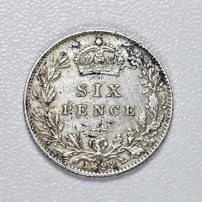 Gb Victoria 'veiled Head' Silver Sixpence - 1893 ++ High Grade!! ++ [874-09]