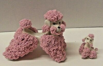 Vintage Large & Small  Spaghetti Poodle  Kreiss Company