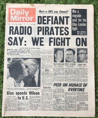 Origina Complete Edition Of The Daily Mirror World Cup 1966 29/7/1966 England
