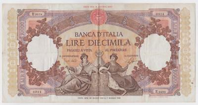 ITALY 1962 Banknote L.10,000 Queens of the sea BB+ / VF+ B23936