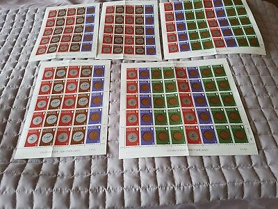 5 sheets guernsey mint stamps 155 stamps