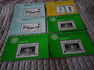 states of guernsey mint stamps 6 booklets